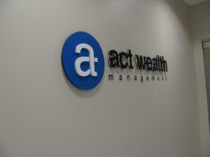 reception acrylic logo sign