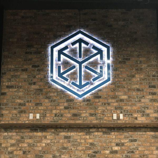 C. H. Robinson Dallas - halo LED lighted aluminum sign