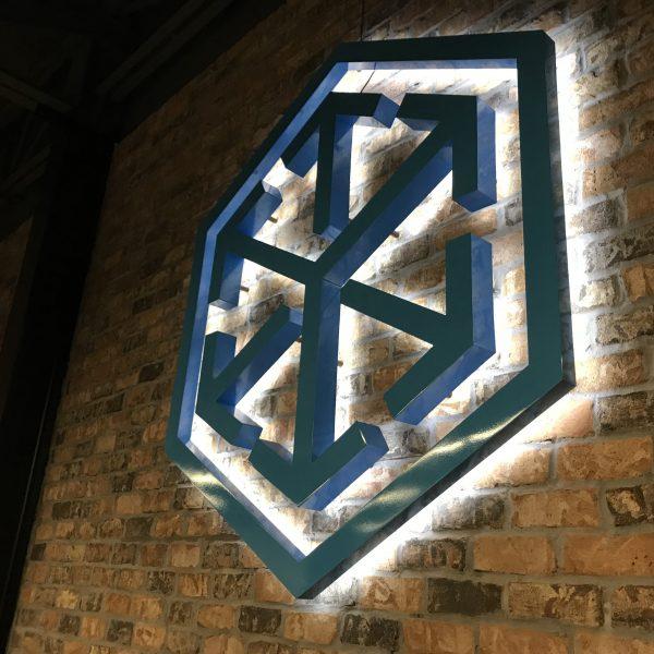 C. H. Robinson - aluminum dimensional fabricated individual pieces logo