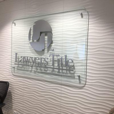 "Router cut out metal 1/4"" aluminum brush finish logo letter logo"