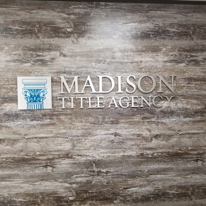 Brushed Aluminum Office Sign