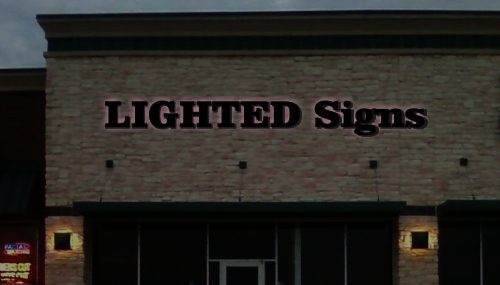 Reverse or Halo Lighted Channel Letter