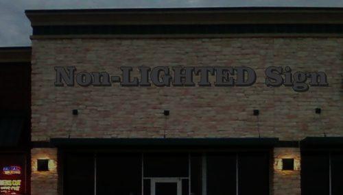 Non Illuminated Channel Letter