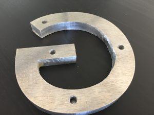 """3/8"""" aluminum letter back"""
