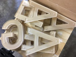 "Clear Acrylic letters 1/2"" thickness"
