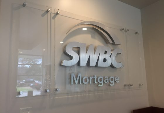 SWBC Mortgage reception sign