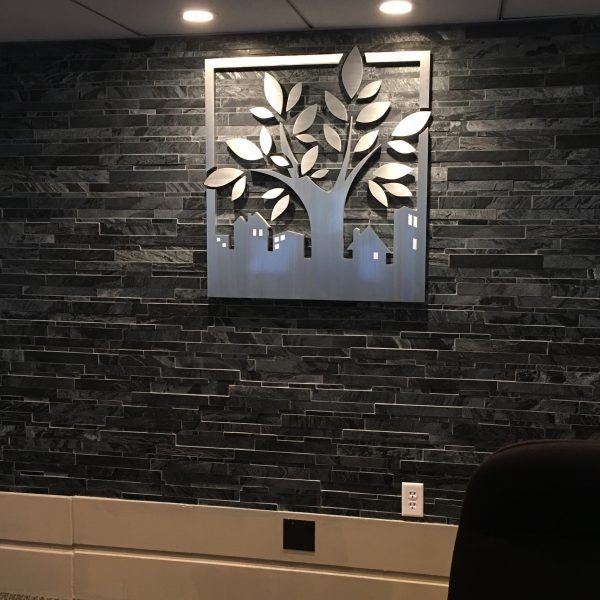 Aluminum Business Reception Sign