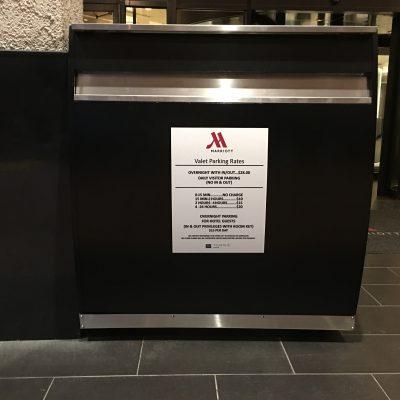 Marriott Magnetic Sign