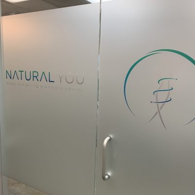 Natural You Frosted Vinyl Entrance Door