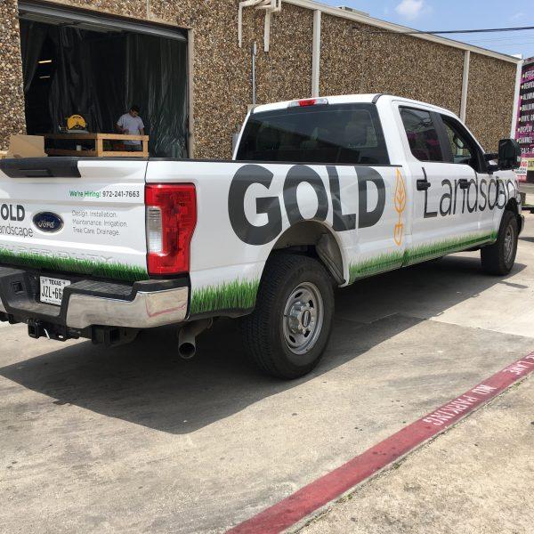 Truck wrap - vinyl signs