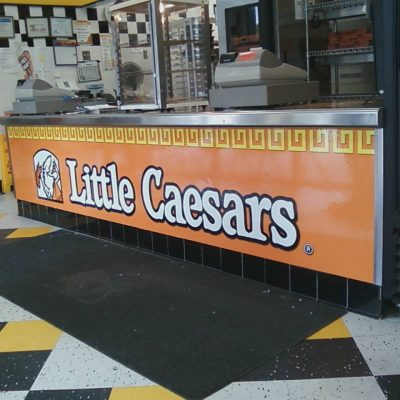 Little Caesars Counter Wrap