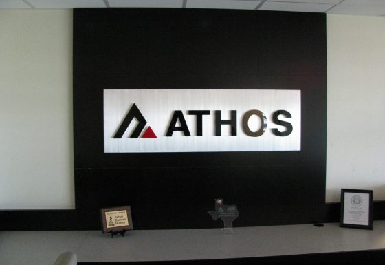 Athos reception sign