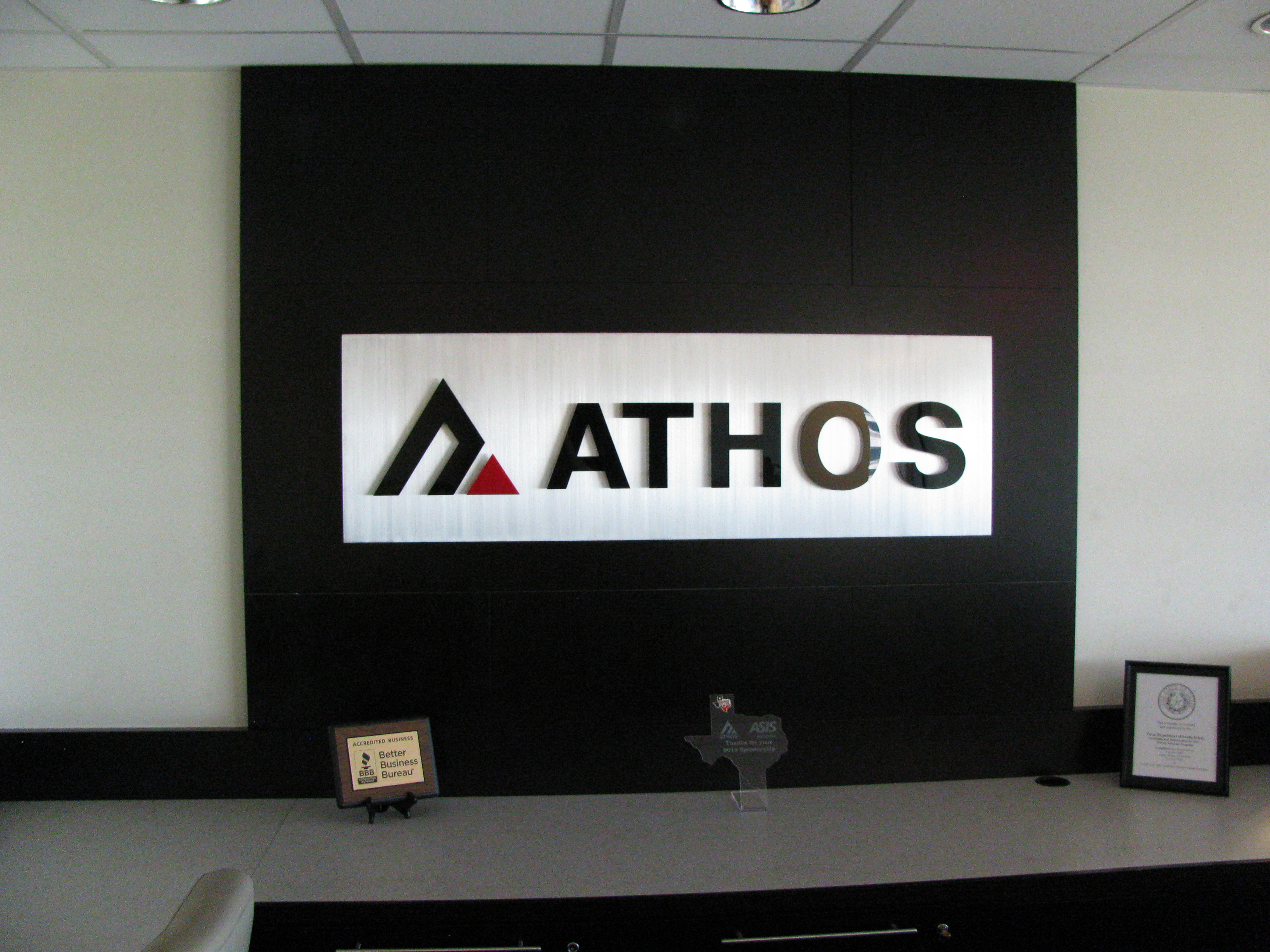 Athos reception sign