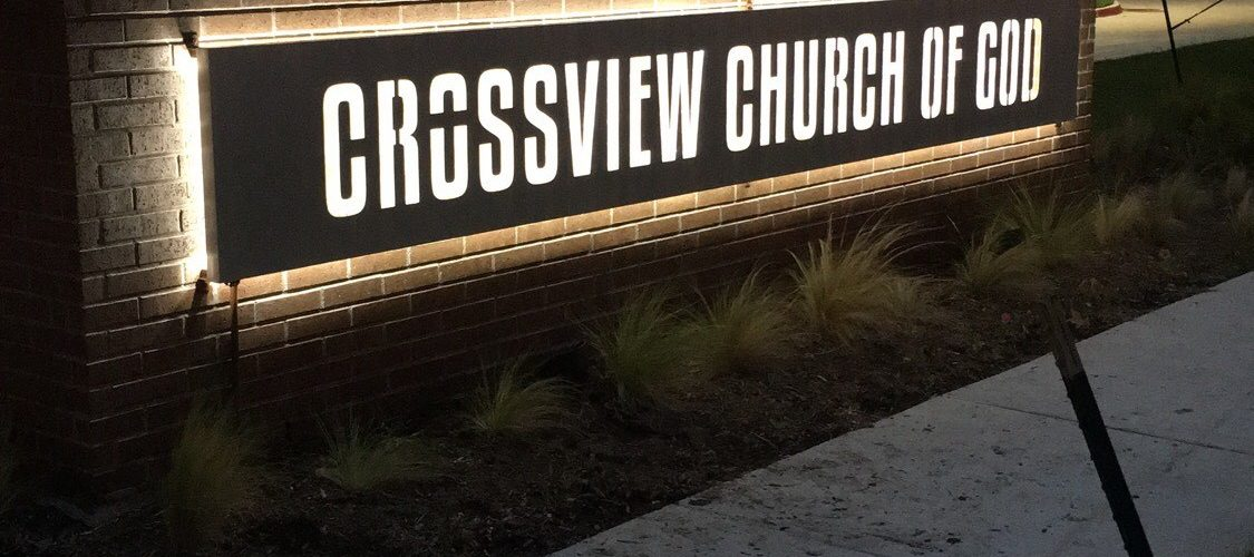 Crossview Church Illuminated Monument Sign