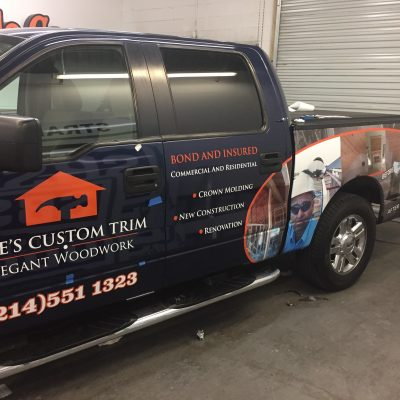 Pete's Custom Trim Vehicle Wrap