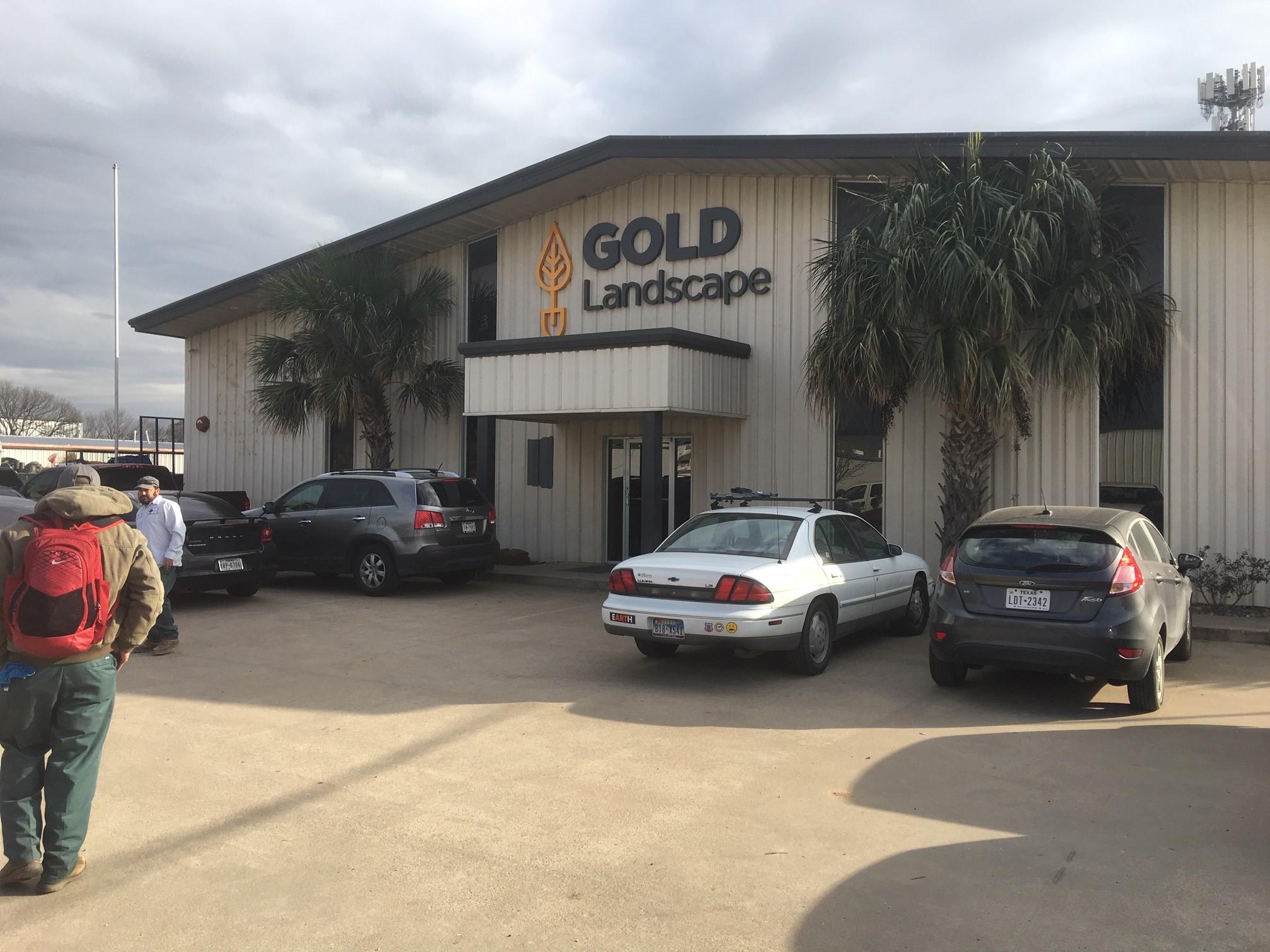 Gold Landscape Building Sign