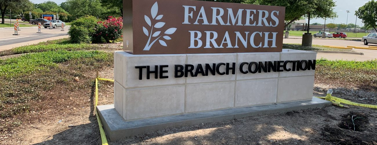 Farmers Branch Identification Monument Sign