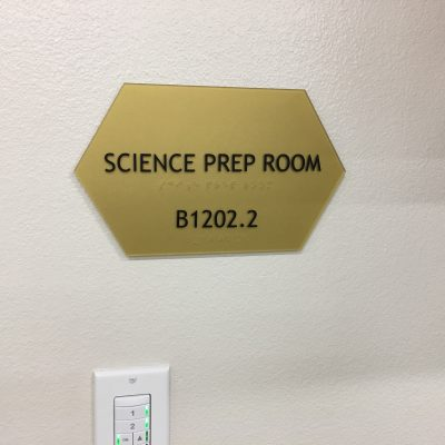 Regulatory Room Identification Sign