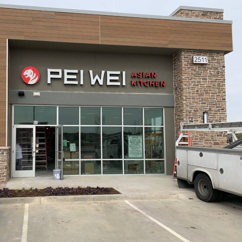Pei Wei Exterior Sign Installation
