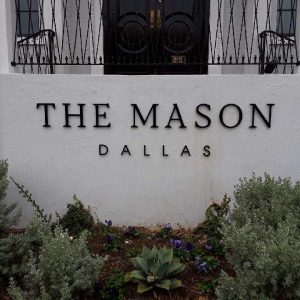 The Mason Dimensional Letter Building Sign