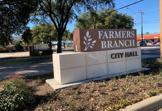 Farmers Branch City Hall Identification Monument Sign